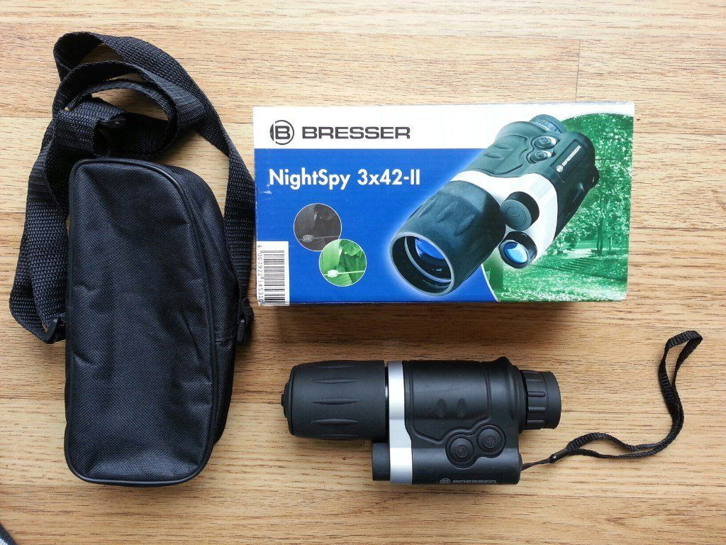packaging de la lunette de vision nocturne bresser night spy3x42