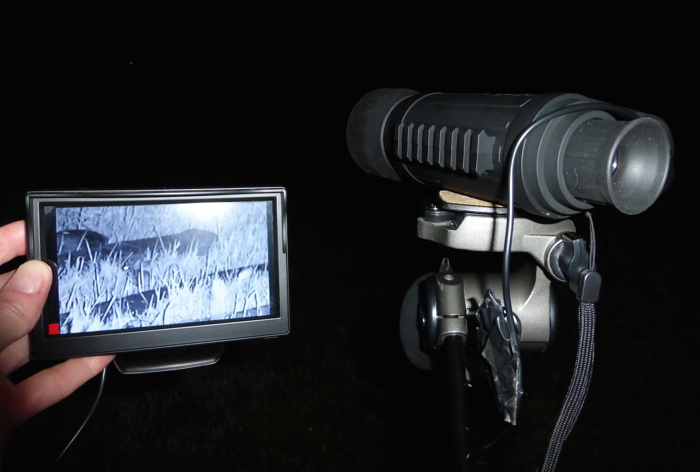 monoculaire de vision nocturne bushnell equinox z vu de haut