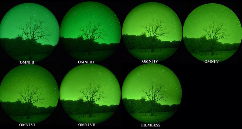 Vision nocturne : les differences entre les normes omni de l'armée
