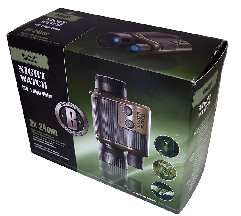 monoculaire de vision nocturne bushnell night watch 2x24 unboxing