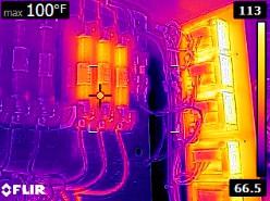 test qualité d'image de la caméra thermique flir E6