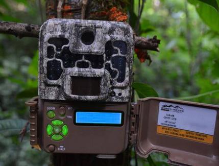 photo d'un petit écran de réglage d'une caméra pour la chasse